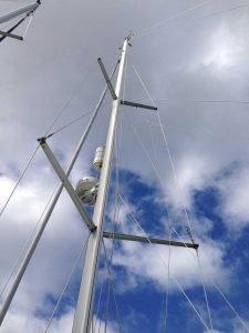 Mast, Spreaders, Rigging