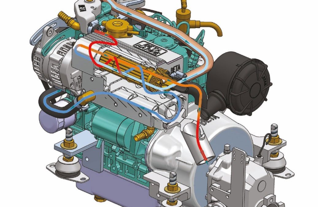 Boat engine cooling systems